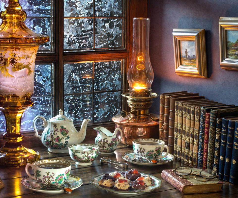 chai-chaepitie-serviz-pechene-lampa-knigi-ochki-kartiny-okno.jpg