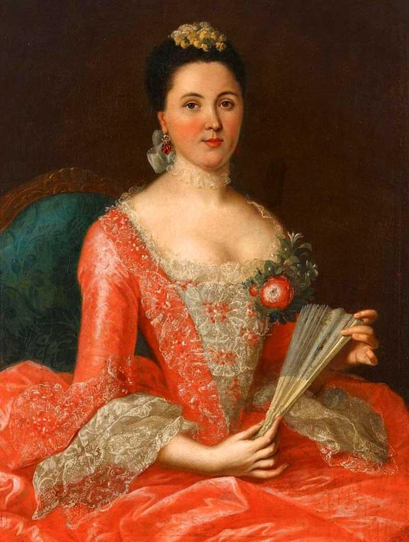 1.Портрет знатной дамы Немецкий художник Иоганн Генрих Тишбейн Старший (1722 1789)