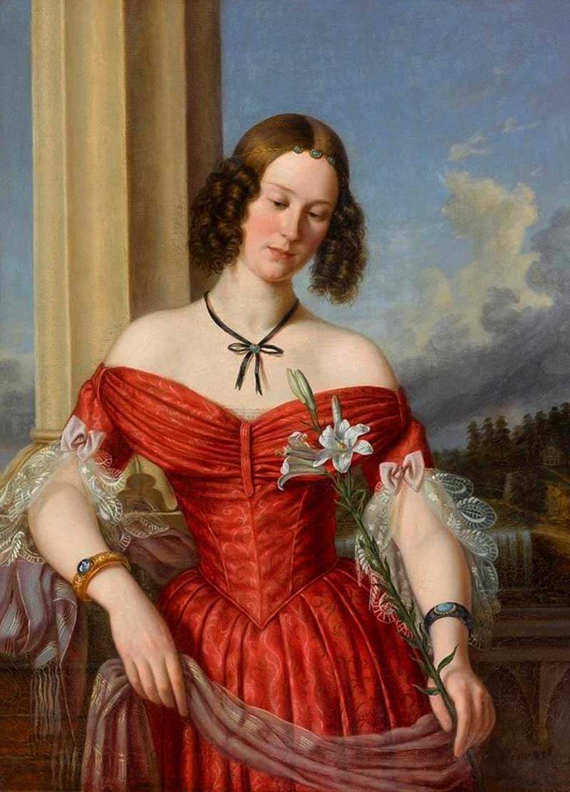 4.Нильс Вильгельм фон Врангель (1747—1845) эстонский художник Портрет Мария Александровна Бенкендорф