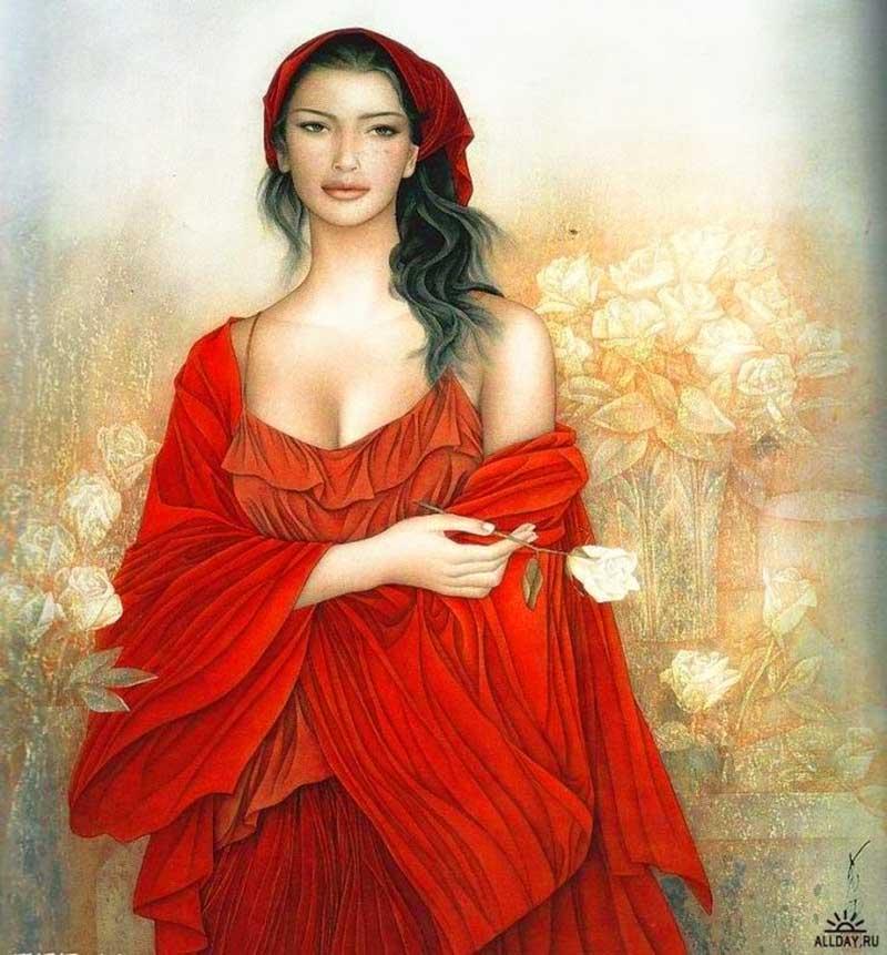 9А.Китайский художник Фэн Чан Цзян (Feng Changjiang) родился в городе Сиань в 1943 году. C 1997 года