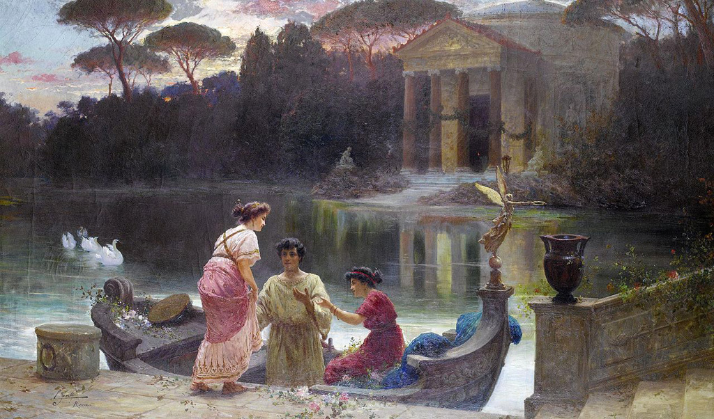Ettore_Forti_-_Evening_at_the_temple.jpg