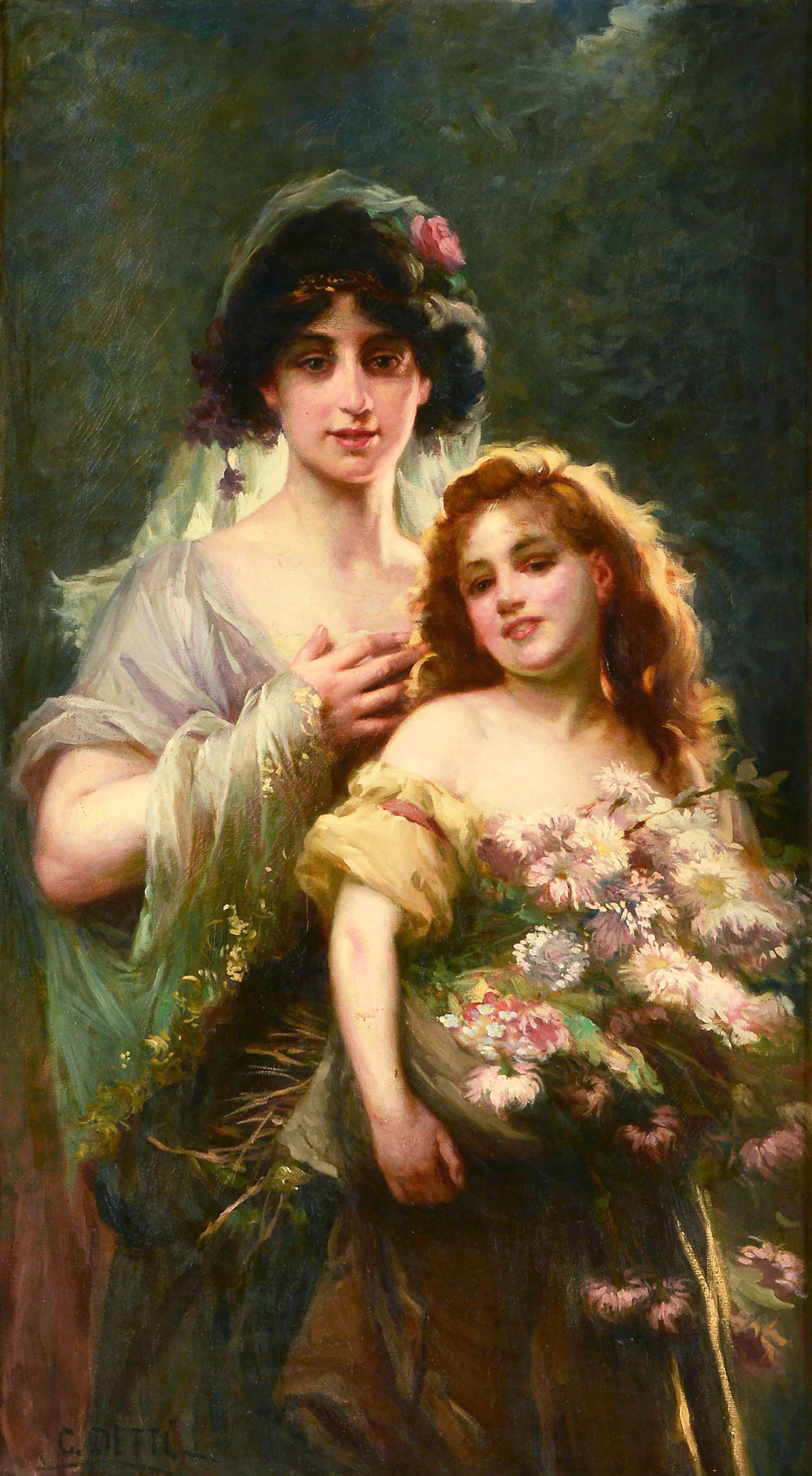 Portrait-of-Mother-and-Daughter-with-Flowers-Cesare-Augusto-Detti-Oil-Painting.jpg